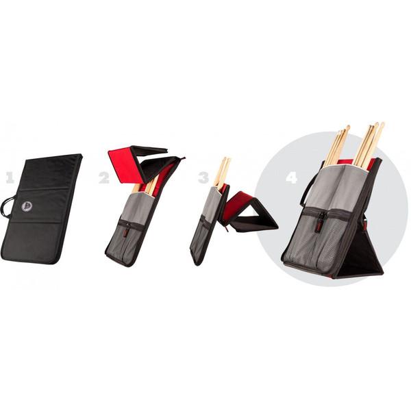 Sabian SAB-SSF12 STICK FLIP 自立するスティックバッグ BLACK/RED