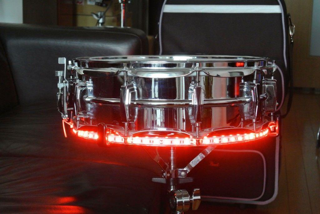ドラムトリガーLEDライト単色-スネア、タム用